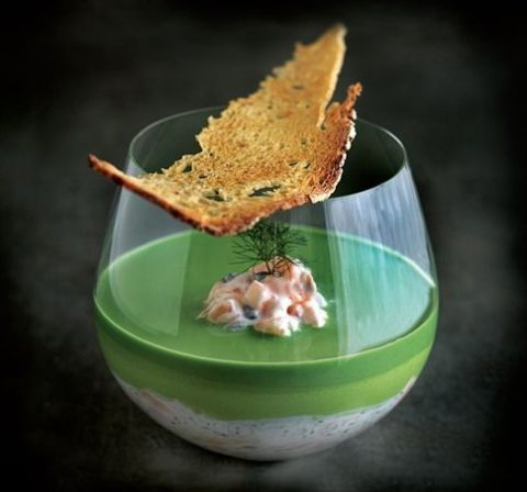 Pea Mousse Canape