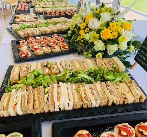 Funeral Buffet Table