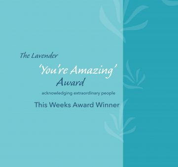 'You're Amazing' Award