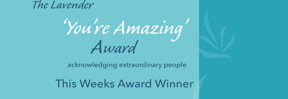 'You're Amazing' Award Recipient